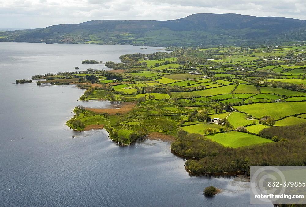 Headland, peninsula Ogonnelloe, Lakelands, Lough Derg Lake, River Shannon, County Clare, Ireland, Europe