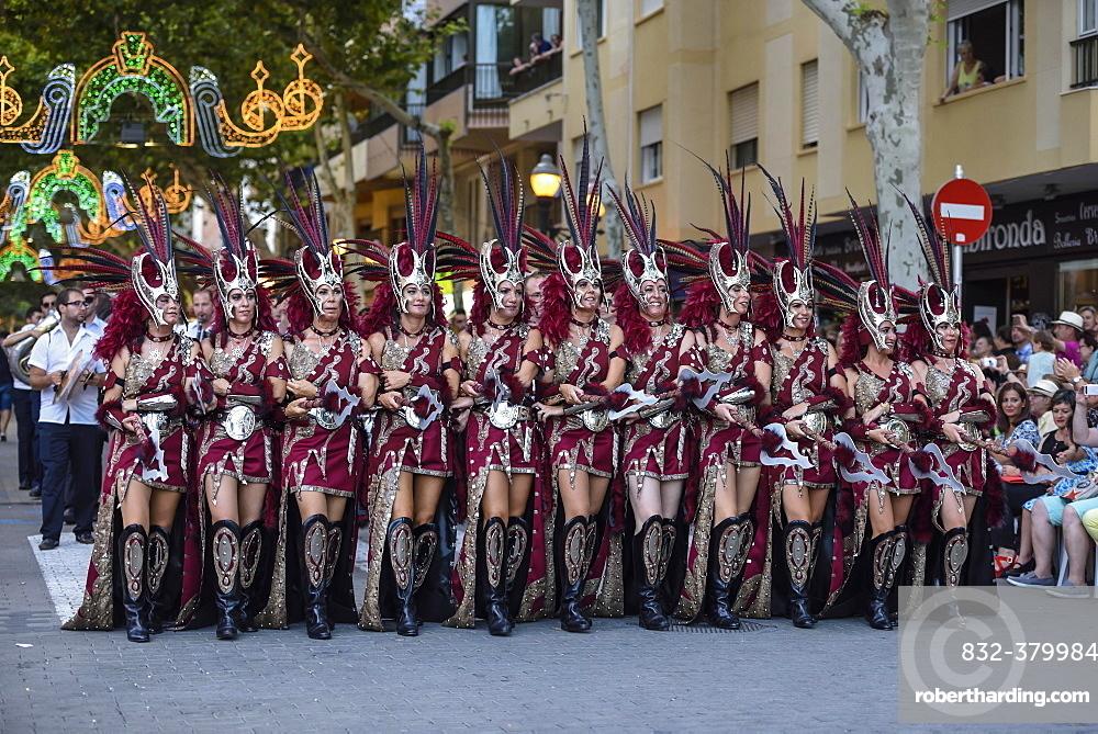 Parade, Moros y Cristianos, Moors and Christians, Dénia, Province of Valencia, Costa Blanca, Spain, Europe