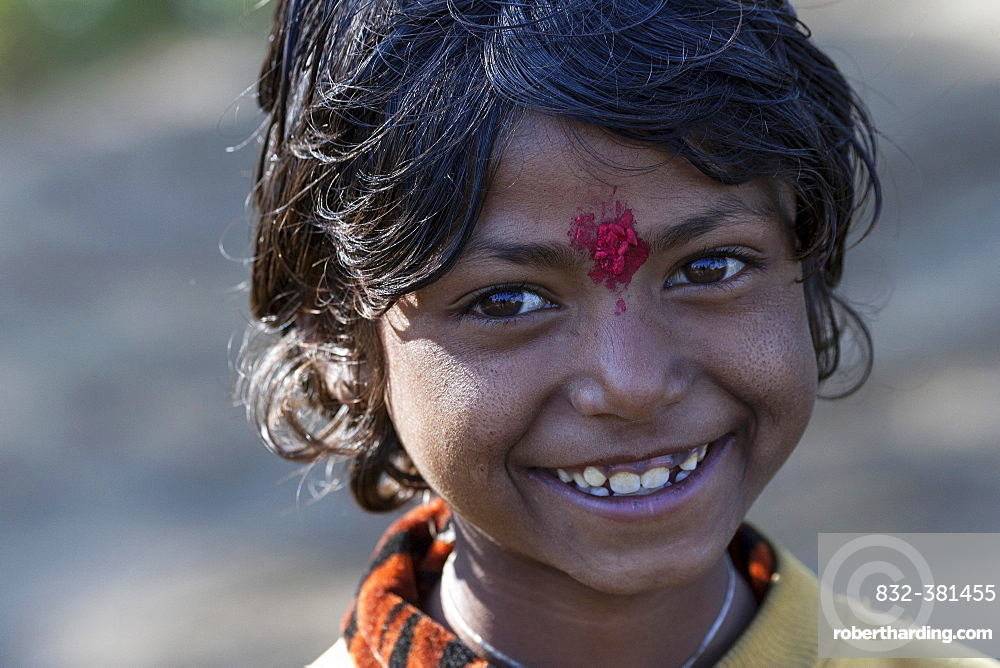 Nepalese girl, portrait, in Nargakot, Nepal, Asia