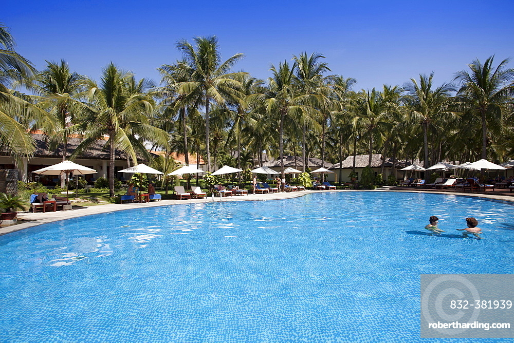Swimming pool of the Blue Ocean Resort, Mui Ne, Vietnam, Asia
