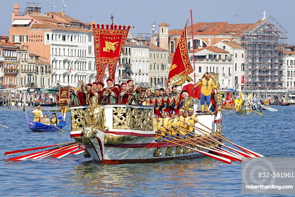 Regata Storica, historical regatta, on the Canal Grande, Venice, Veneto, Italy, Europe