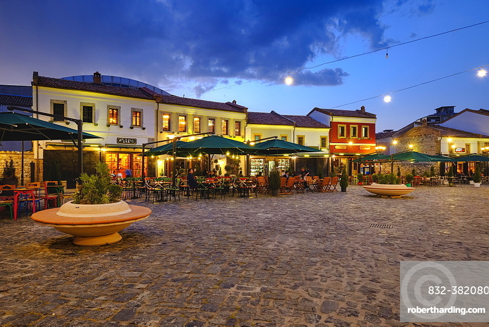 Old bazaar, Pazari i Vjetër, historic bazaar district, Korca, Korça, Albania, Europe
