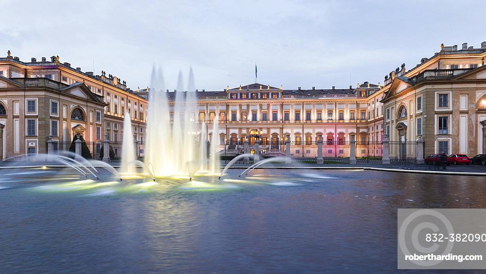 Villa Reale di Monza, Royal Villa of Monza, palace, Lombardy, Italy, Europe