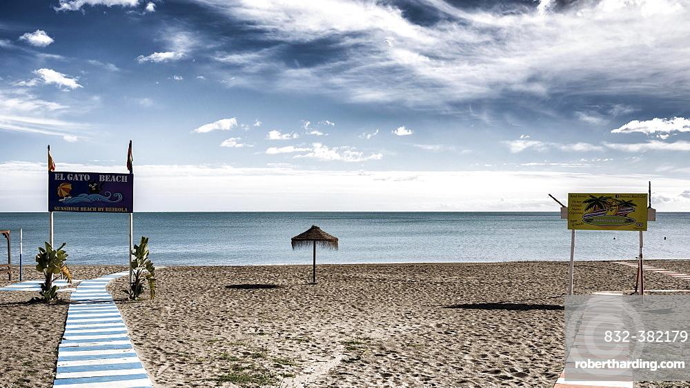El Gato Beach, Costa del Sol, Torremolinos, Malaga, Andalusia, Spain, Europe