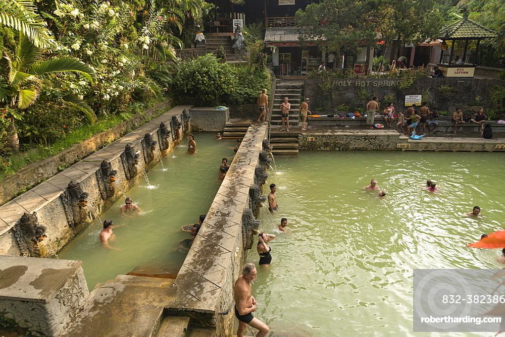 Holy hot springs Air Panas in Banjar, Lovina, Bali, Indonesia, Asia