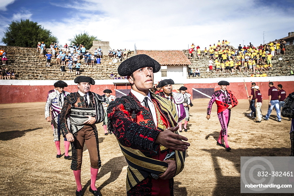 Matadors before a bullfight, Barco de Avila, Avila, Castile and Leon, Spain, Europe