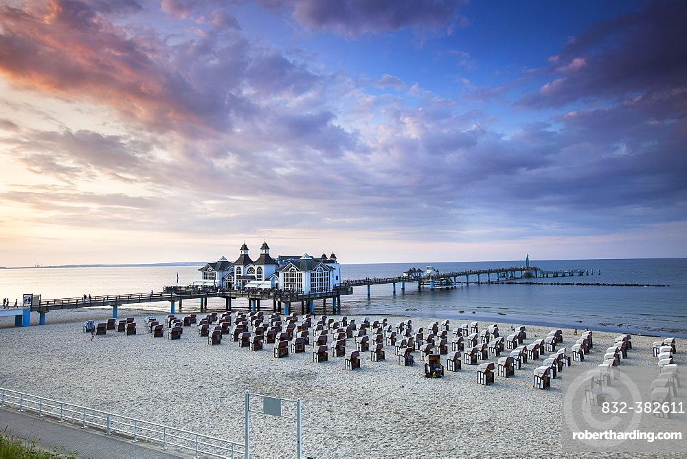 Sellin Pier, Sellin, Rugen Island, Mecklenburg-Western Pomerania, Germany, Europe