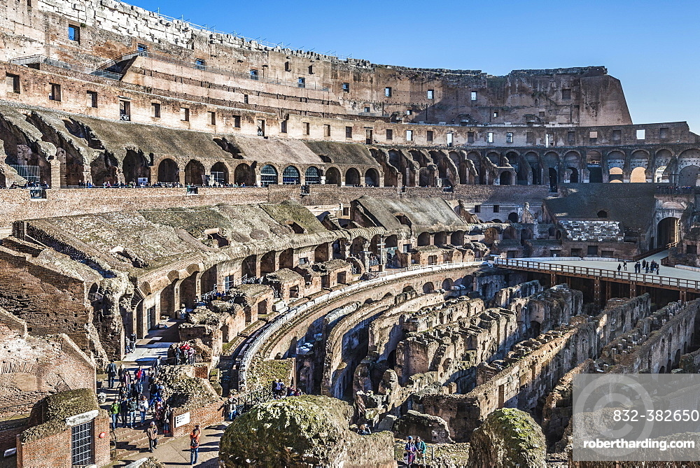 Interior, Colosseum, Rione XV Esquilino, Rome, Lazio, Italy, Europe