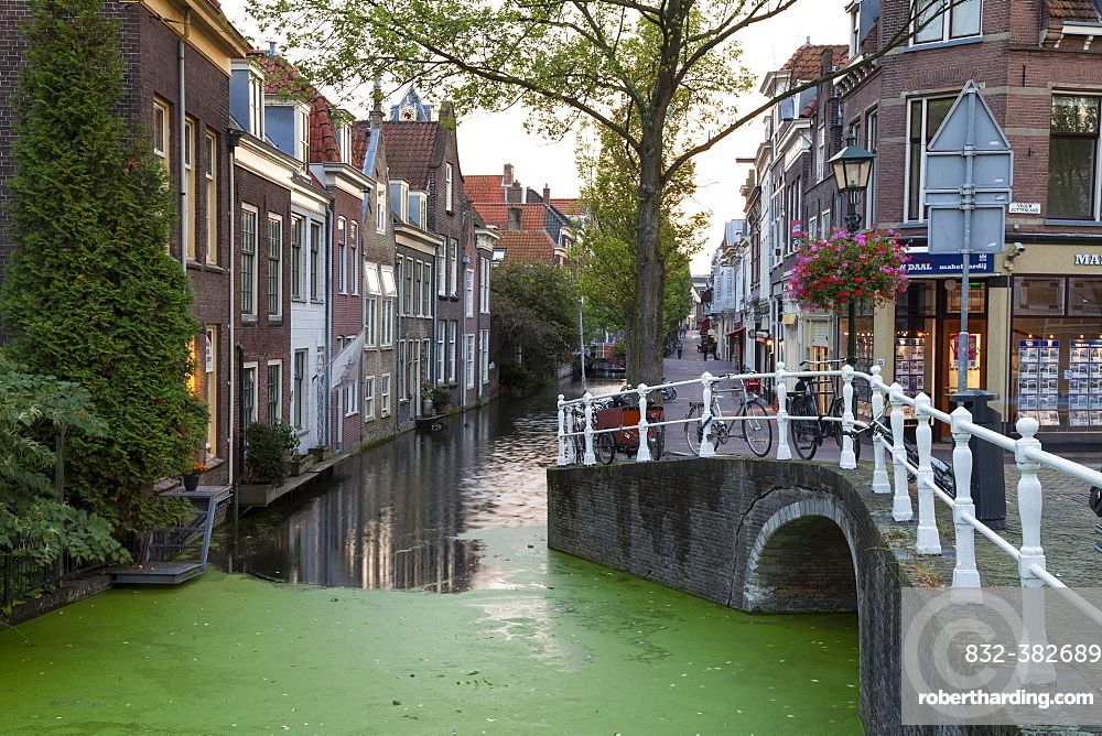 Canal, Delft, Holland, The Netherlands, Europe