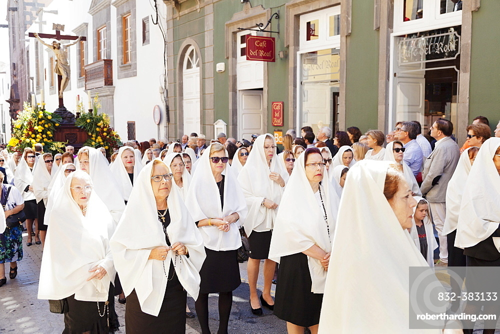 Easter procession in the historic centre of Vegueta, Las Palmas, Gran Canaria, Canary Islands, Spain, Europe