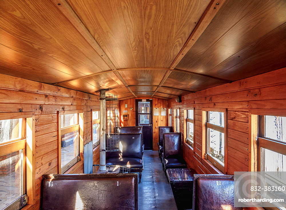 Old Patagonian Express La Trochita, steam train interior, Chubut Province, Patagonia, Argentina, South America
