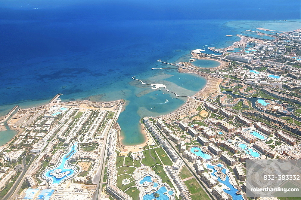 Aerial view, Hurghada, Egypt, Africa