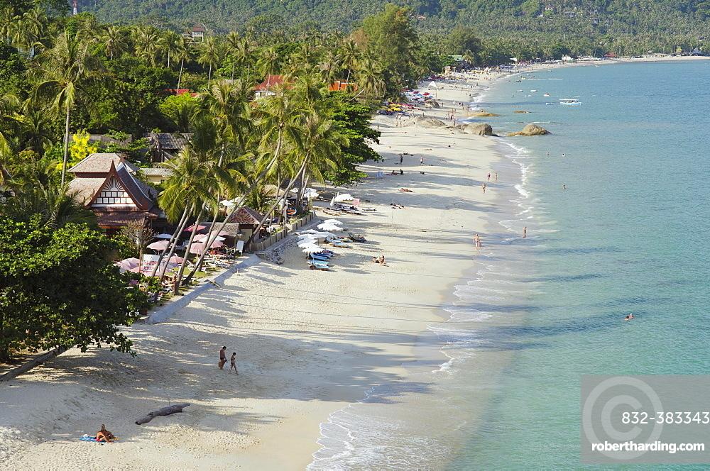 Beach with palm trees, Lamai Beach, Ko Samui, Thailand, Asia
