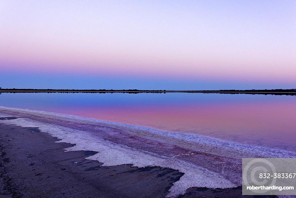 Lake Ninan, salt lake, in morning light, Victoria Plains, Western Australia, Australia, Oceania