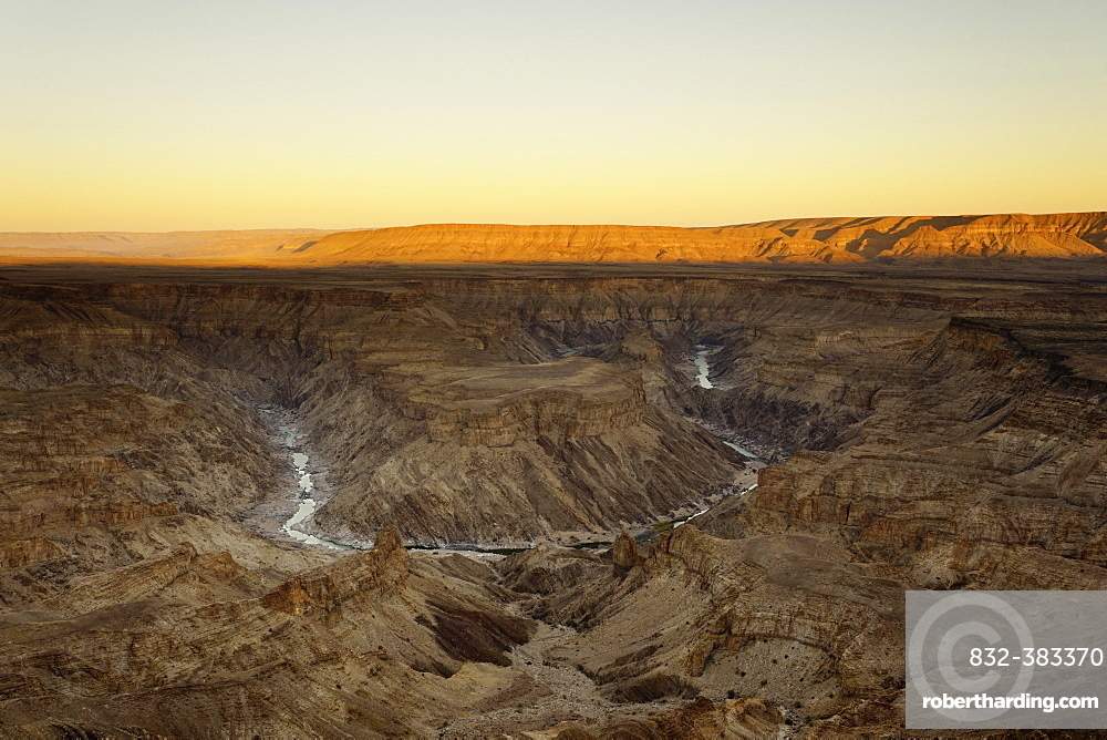 Sunrise over the Fish River Canyon, Richtersveld National Park, Southern Namibia, Namibia, Africa