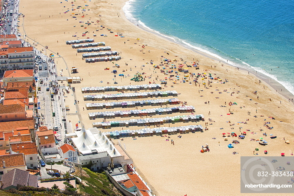 Nazare beach, Estremadura and Ribatejo, Portugal, Europe
