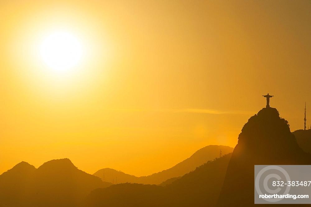 View from the Sugarloaf Mountain or Pao de Acucar, Rio de Janeiro, Brazil, South America