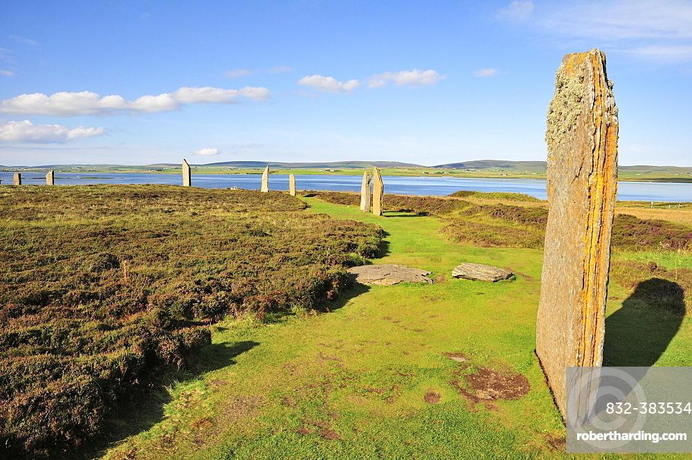 Ring of Brodgar, neolithic henge and stone circle, Mainland, Orkney, Scotland, United Kingdom, Europe