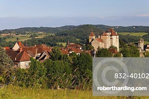 Curemonte, labelled Les plus beaux villages de France, The most beautiful villages of France, Dordogne valley, Correze, Limousin, France, Europe