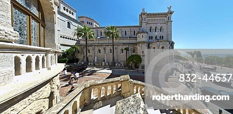 View from the Palace of Justice towards Saint Nicholas Cathedral, Monte Carlo, Principality of Monaco, Cote d'Azur, Mediterranean Sea, Europe, PublicGround