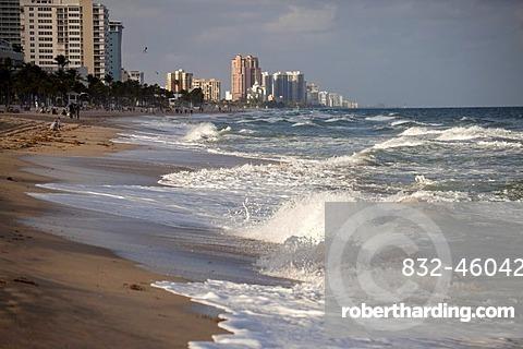 Surf, beach of Fort Lauderdale, Broward County, Florida, USA