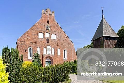 Church in Landkirchen, Fehmarn island, Schleswig-Holstein, Germany, Europe