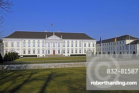 Schloss Bellevue Palace, seat of the German Federal President, Berlin, Germany, Europe