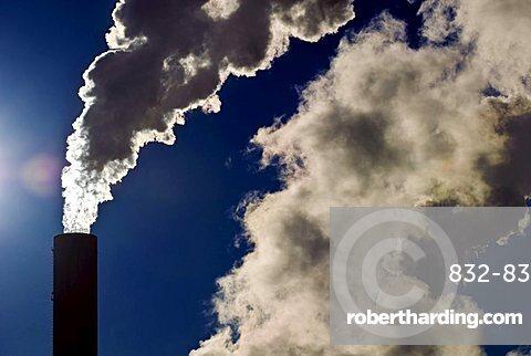 Industrial chimney, backlight
