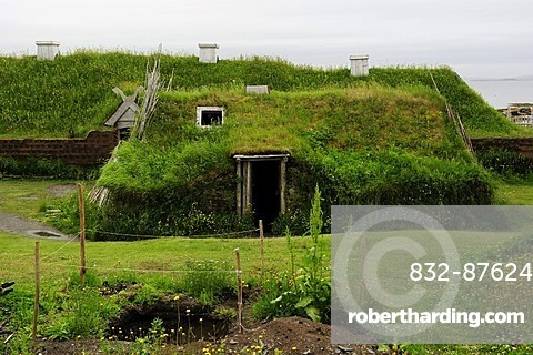First Viking settlement on the American mainland, about 1000 years old, L'Anse aux Meadows, Newfoundland, Canada, North America