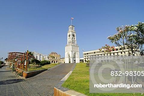 Clock Tower, national monument, Plaza Arturo Prat square, Iquique, Norte Grande, Northern Chile, Chile, South America