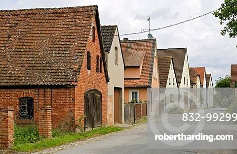 Houses in the village of Voggendorf, Uehlfeld, Middle Franconia, Bavaria, Germany, Europe