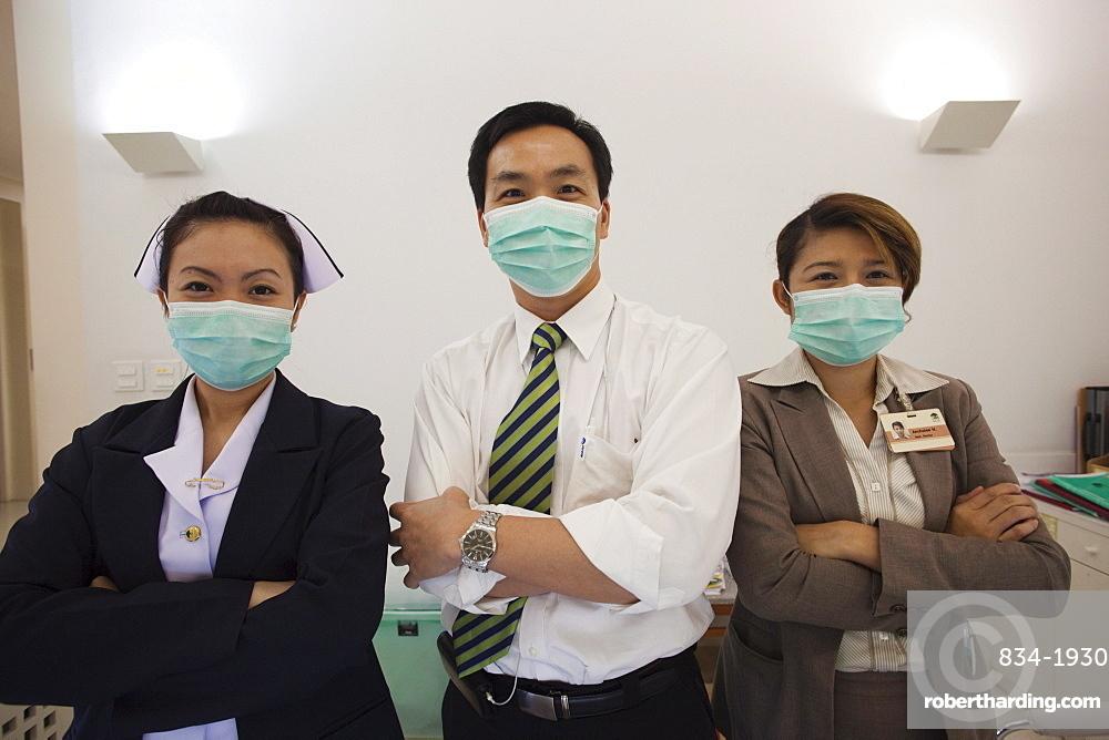 Hospital doctor and nurses, Bangkok, Thailand, Southeast Asia, Asia
