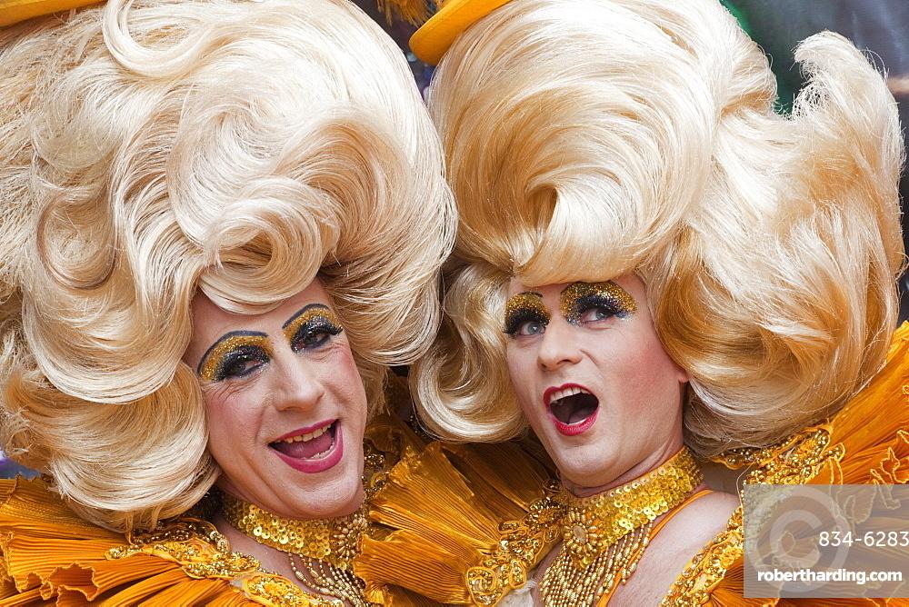 Drag queens, Gay Pride Festival, London, England, United Kingdom, Europe