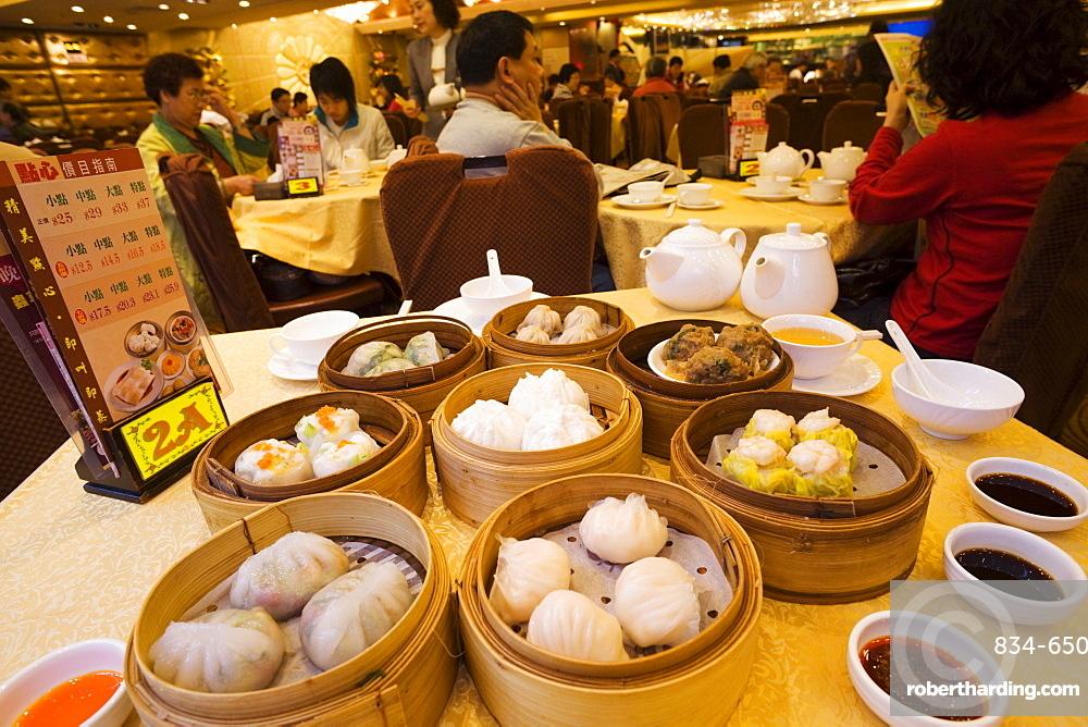 Chinese dim sum, Hong Kong, China, Asia