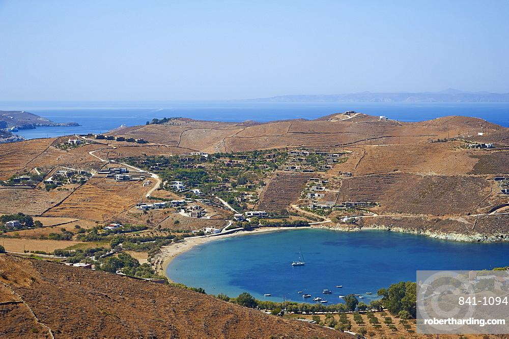 The beach of Otzias, Agios Sostis, Kea Island, Cyclades, Greek Islands, Greece, Europe