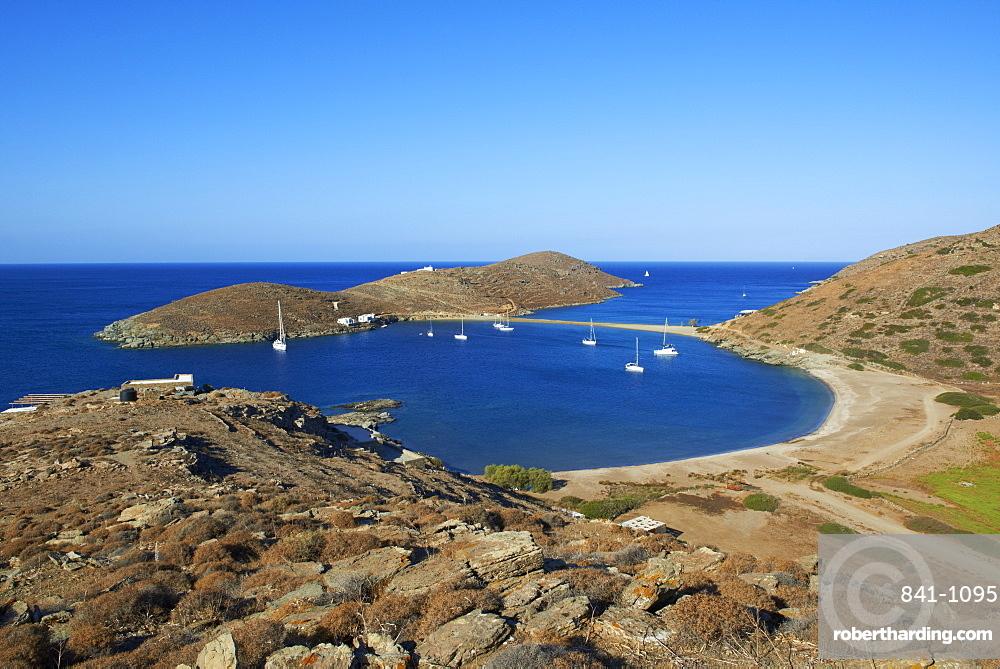 Kolona beach, Kythnos, Cyclades, Greek Islands, Greece, Europe