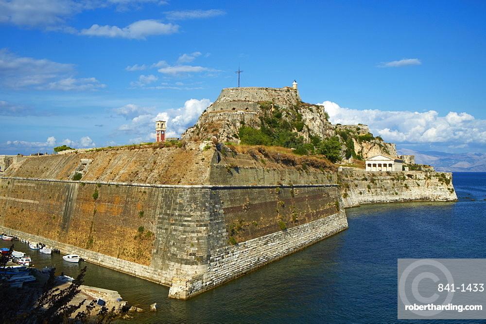 Old Fortress, Kerkyra city, UNESCO World Heritage Site, Corfu, Ionian Islands, Greek Islands, Greece, Europe