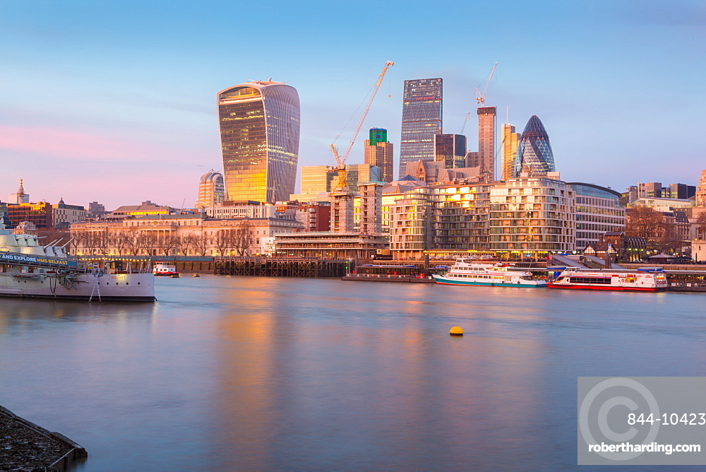 The City of London skyline and River Thames from South Bank, London, England, United Kingdom, Europe