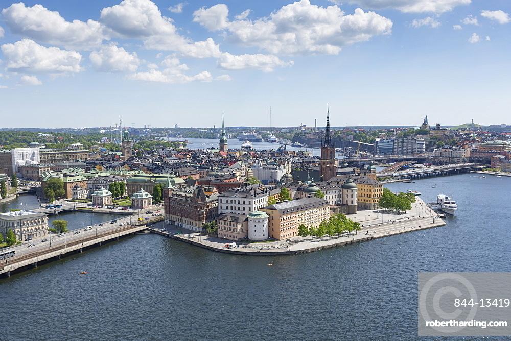 View of Riddarholmen Town Hall Tower, Stockholm, Sweden, Scandinavia, Europe