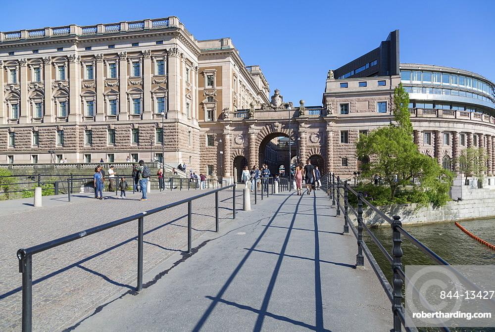 View of Parliament House (Riksdagshuset), Stockholm, Sweden, Scandinavia, Europe