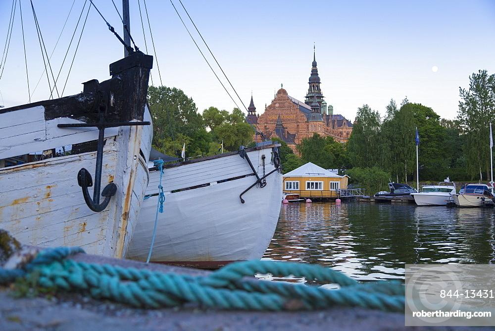 Boats and Nordic Museum, Djurgardsvagen, Stockholm, Sweden, Scandinavia, Europe