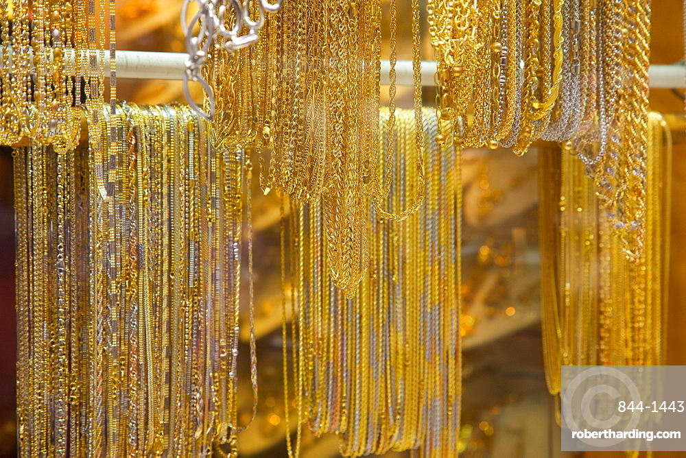 Gold in the Gold Souk, The Creek, Dubai, United Arab Emirates, Middle East