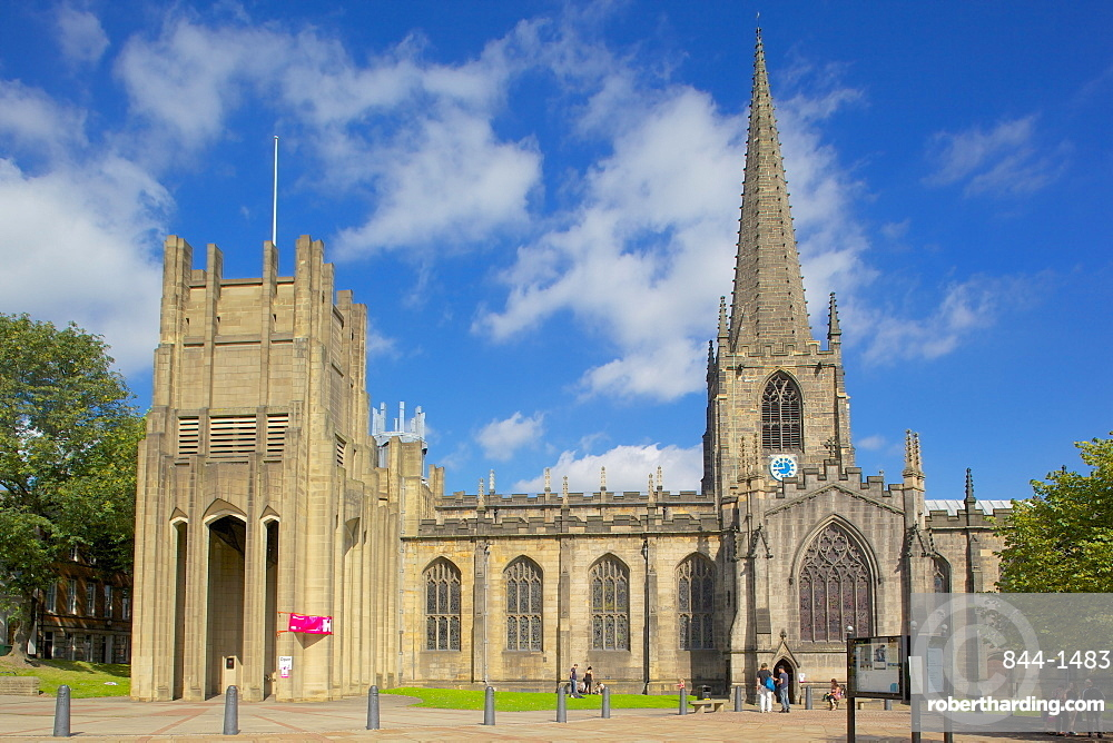Sheffield Cathedral, Sheffield, South Yorkshire, Yorkshire, England, United Kingdom, Europe
