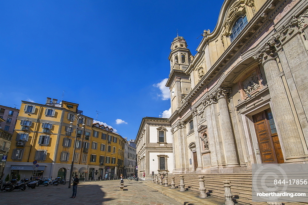 Church in Piazza Alessandro on a sunny day, Milan, Lombardy, Italy, Europe