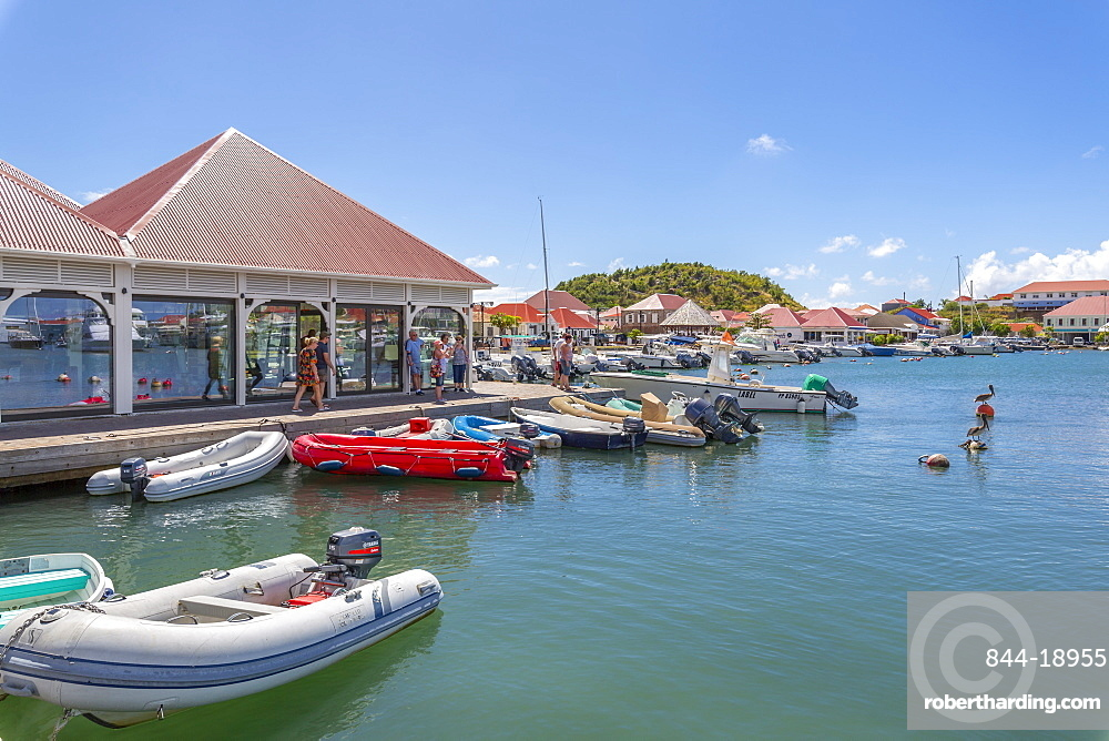 View of the harbour, Gustavia, St. Barthelemy (St. Barts) (St. Barth), West Indies, Caribbean, Central America