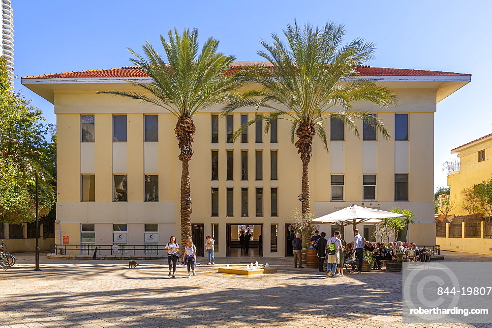 View of Suzanne Dellal Center for Dance and Theater, Neve Tzedek neighbourhood, Tel Aviv, Israel, Middle East