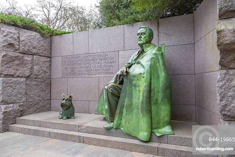View of Franklin Delano Roosevelt Memorial, Washington D.C., United States of America, North America