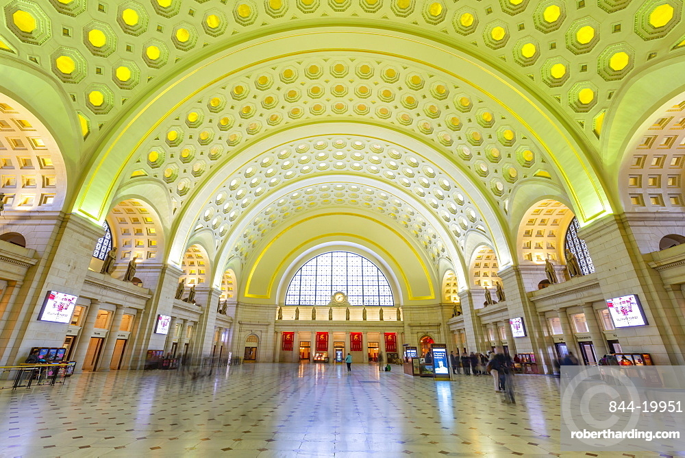 View of the interior of Union Station, Washington D.C., United States of America, North America