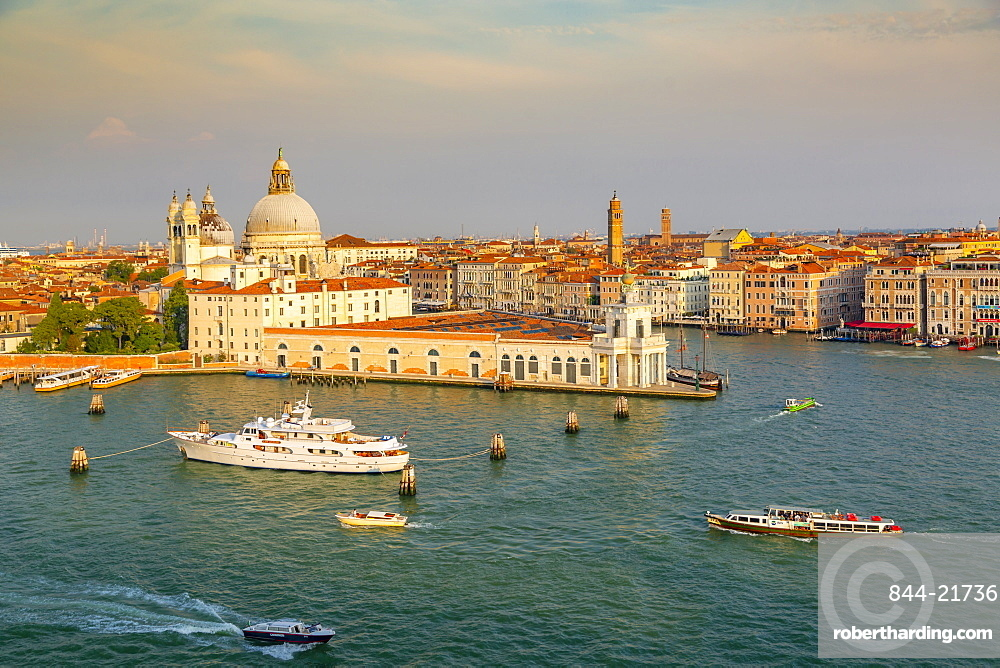 View of Venice from cruise ship at daybreak, Venice, Italy, Europe