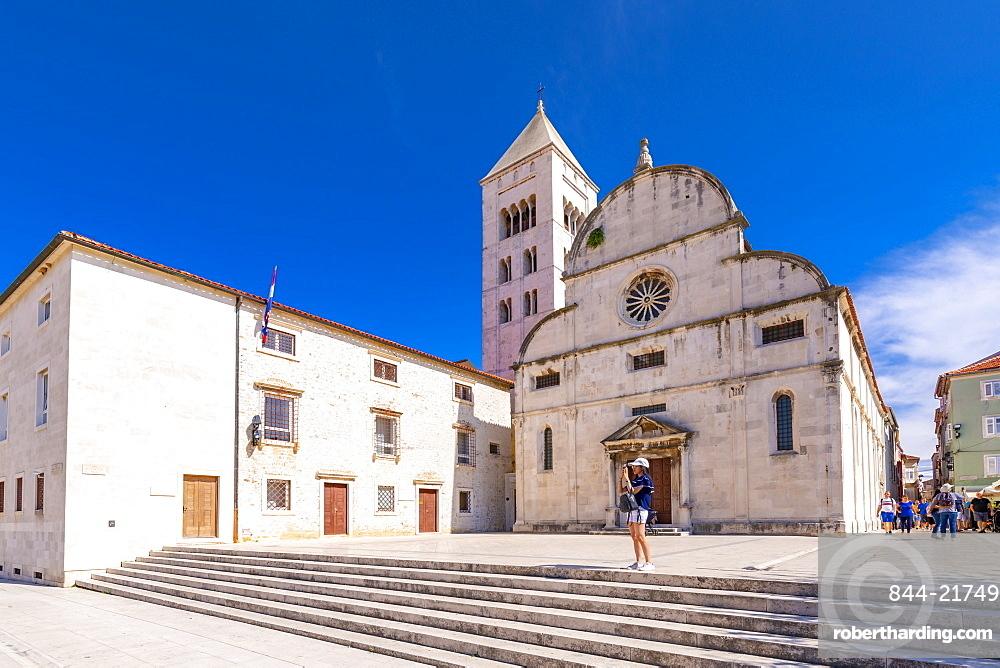 View of Catholic Church and Museum, Zadar, Zadar county, Dalmatia region, Croatia, Europe
